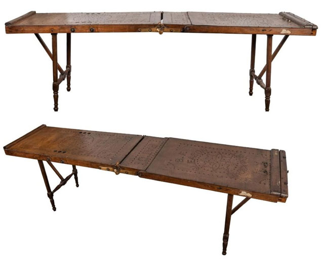 Antique embalming table