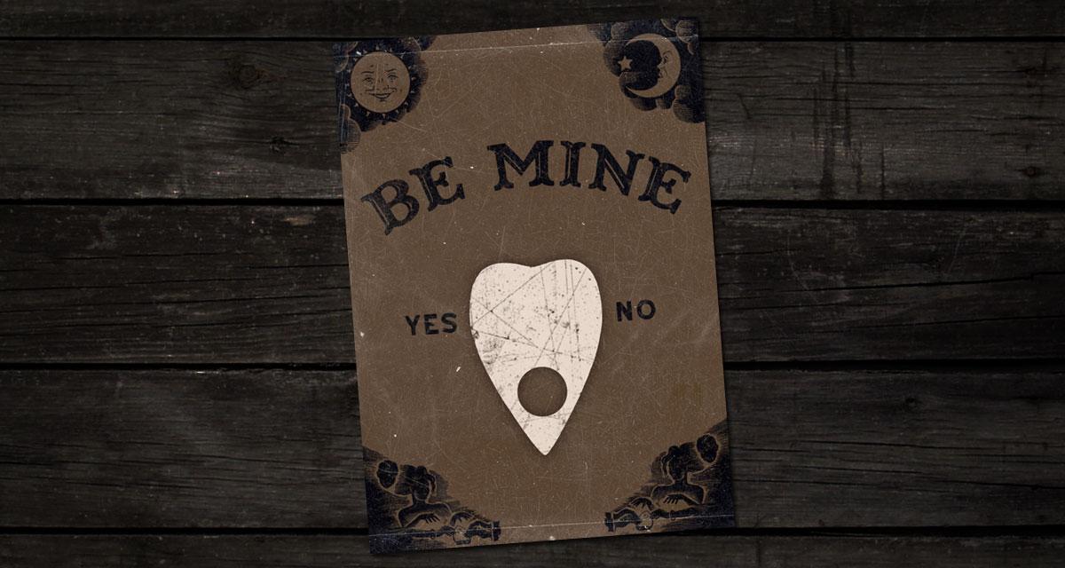 Free printable Ouija board Valentines download